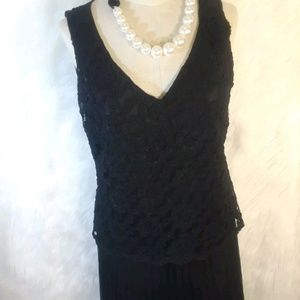Donna rico little black dress lace women's 12